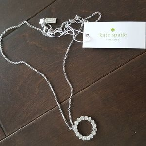 Kate Spade Crystal Circle Pendant Necklace